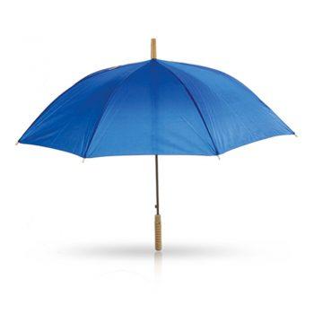 מטריה כחולה עם מוט מתכת