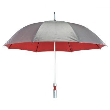 מטריה ממותגת אדומה