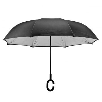 הדפסה על מטריה הפוכה שחורה