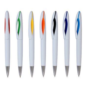 עט כדורי עם לוגו משולב שני צבעים