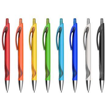 עט ממותג עם לחצן חצי שקוף